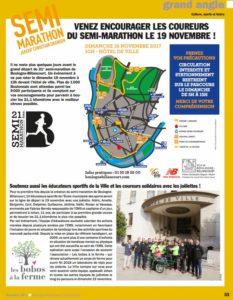 Semi-marathon: Les bobos à la ferme dans le magazine de la Ville de Boulogne Billancourt
