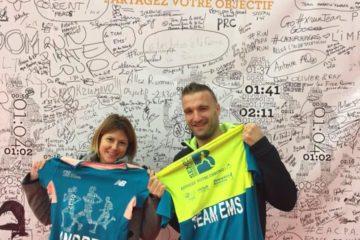 Vanessa et Fabrice pour Andréa et Johann au semi-marathon de Boulogne Billancourt!