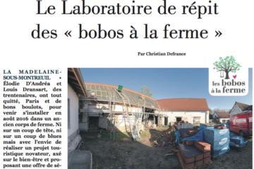 L'Echo du Pas-de-Calais, le laboratoire de répit, les bobos à la ferme