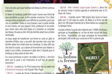 Par i'chi, c'est le trimestriel gratuit des 7 Vallées et de la Côte d'Opale: depuis avril 2017, vous pouvez y suivre les aventures des Bobos à la ferme!