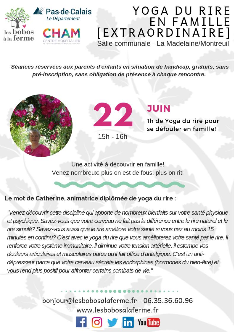 Affiche yoga du rire 22juin